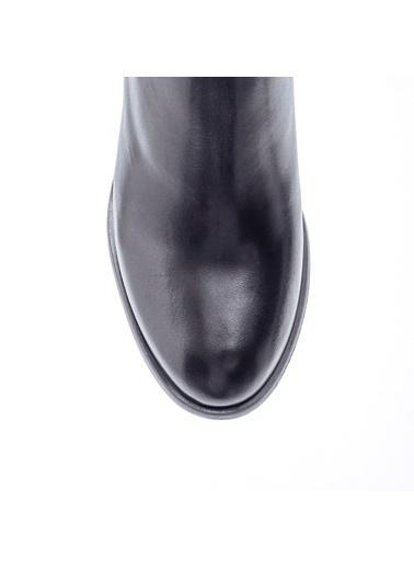 Derimod Topuklu Deri Çizme Siyah